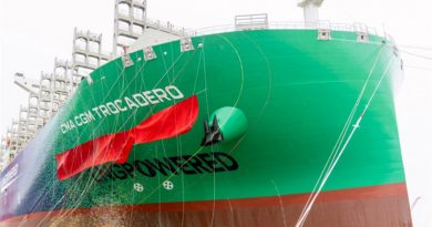 Reciben el cuarto buque impulsado por GNL fabricado en Shanghái